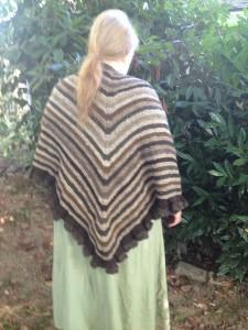 River Run shawl in natural browns