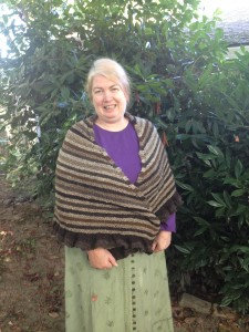 Front view of the River Run shawl