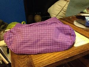 oval shape of the travel sack bottom