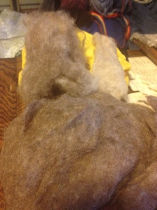 buffalo below, cashmere right and combined fiber on the left
